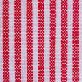 Stripes fabric closeup tablecloth texture blue and red Stock Images