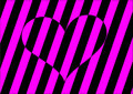 Stripes heart Stock Images