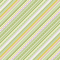 Stripes and laces green and white background pattern fill expanded cropped seamless pattern included in swatch palette Stock Images