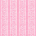 Stripes and laces pink silk tulle seamless pattern Stock Photo