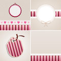 Stripes wallpaper backgrounds and labels for greeting cards patchwork style Stock Photography
