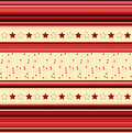 Stripey background with stars in red yellow illustration Royalty Free Stock Image