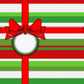 Stripey Christmas wrapping Royalty Free Stock Photo