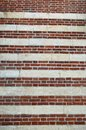Stripey red and brick wallpaper Royalty Free Stock Photo