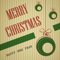 Stripped square vintage christmas card 2 Royalty Free Stock Image