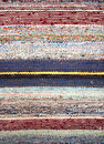Stripped woven rag rug Royalty Free Stock Photo
