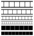 Strips film and stamps set Royalty Free Stock Photography