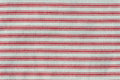 Stripy red fabric Stock Photo