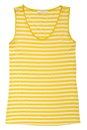 Stripy yellow blouse is on white Royalty Free Stock Photo