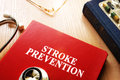 Stroke Prevention written on a book. Royalty Free Stock Photo