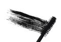 Stroke (sample) of black mascara, isolated on white macro Royalty Free Stock Photo