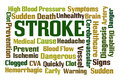 Stroke word cloud on white background Royalty Free Stock Images