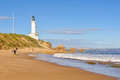 Stroll on the beach - Point Lonsdale Royalty Free Stock Photo