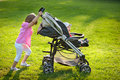 Stroller Royalty Free Stock Photo
