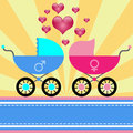 Stroller for baby Royalty Free Stock Photography