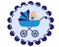 Stroller with baby Royalty Free Stock Photos