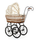 Stroller little toy in lace Royalty Free Stock Images