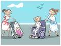 Tulák a invalidný vozík
