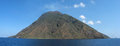 Stromboli Island Panorama & x28;harbor& x29; - Messina - Sicily - Italy Royalty Free Stock Photo