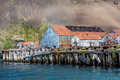 Stromness whale station where shackleton was saved abandoned on falkland islands Royalty Free Stock Photos