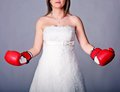 Strong bride Stock Photos