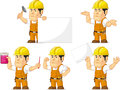 Strong Construction Worker Mascot 4 Royalty Free Stock Photo