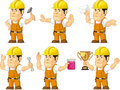 Strong Construction Worker Mascot 3 Royalty Free Stock Photo
