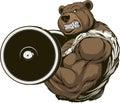 Strong ferocious bear