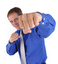 Strong Fighting Business Man Royalty Free Stock Image