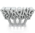Strong Foundation Words on Granite Marble Columns Stock Images