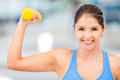 Strong gym woman Royalty Free Stock Photo
