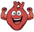 Strong heart cartoon vector illustration of Stock Images