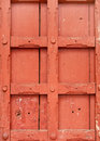 Strong interlocking wooden structure on ancient door, Mysore Palce Stock Image