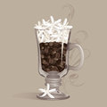 Strong Irish Coffee Stock Photo