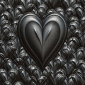 Strong love valentines heart Royalty Free Stock Photo