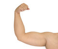 Strong man arm isolated Royalty Free Stock Photo