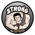 Strong man creative design of Stock Photo