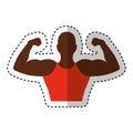 Strong man human figure