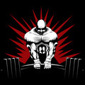 Strong man weight lifter Stock Images