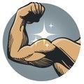 Strong muscle flex