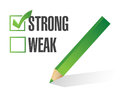 Strong over weak selection illustration design white Royalty Free Stock Photography