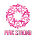 Strong pink people vector circle of Stock Photo