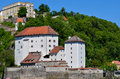 Stronghold of passau called veste oberhaus old german historical city Stock Photography