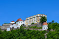 Stronghold of passau called veste oberhaus old german historical city Royalty Free Stock Photo