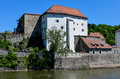 Stronghold of passau called veste oberhaus old german historical city Stock Photo