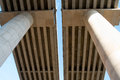The structural components of a bridge detailed view concrete Royalty Free Stock Image