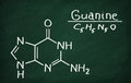 Structural model of Guanine Royalty Free Stock Photo
