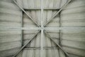 Structural steel roof the structure architectural periods that describes the structure Stock Image