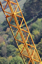 Structure jaune de grue Photo stock