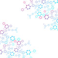 Structure molecule and communication. Dna, atom, neurons. Scientific concept for your design. Connected lines with dots Royalty Free Stock Photo